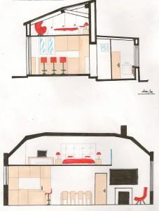 Réalisation de l'amenagement d'un deux pièces avec mezzanine dans REALISATIONS numerisation0159-227x300